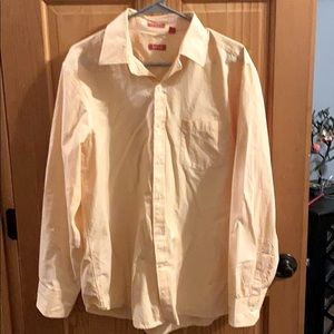 Men's IZOD Slim-Fit Long-Sleeved Shirt Size L